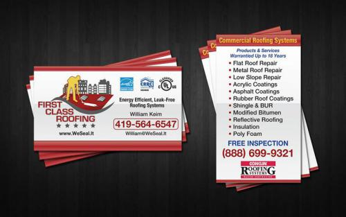 first-class-roofing-business-card